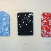 富樫 麻美|【左から】浮遊できないかんじ(2011)/世界(2009〜2010)/はつはる(2010)