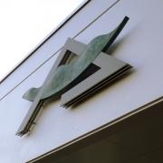 佐々木けいし|本荘東中学校章モニュメント|2004